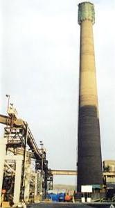 Blast furnace chimney